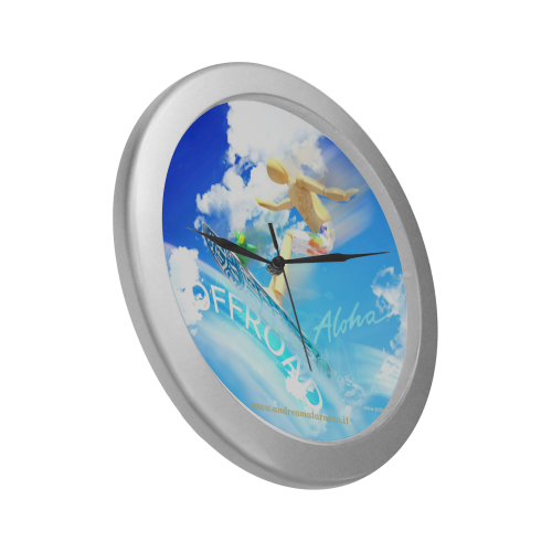 Offroad 06 Silver Color Wall Clock