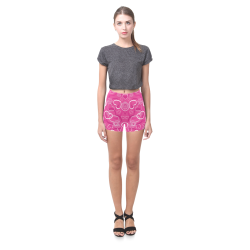 hearts pink Briseis Skinny Shorts (Model L04)