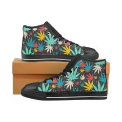 Colorful Leaves Men's Classic High Top Canvas Shoes (Model 017)