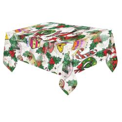"Joy Christmas by Nico Bielow Cotton Linen Tablecloth 60""x 84"""