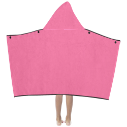color French pink Kids' Hooded Bath Towels