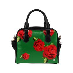 Fairlings Delight's Floral Luxury Collection- Red Rose Shoulder Handbag 53086h16 Shoulder Handbag (Model 1634)