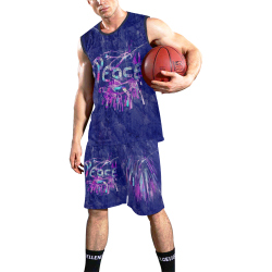 Peace by Nico Bielow All Over Print Basketball Uniform