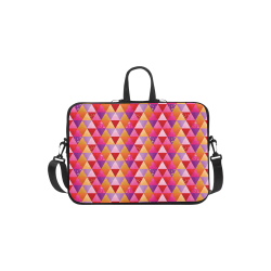 "Triangle Pattern - Red Purple Pink Orange Yellow Laptop Handbags 13"""