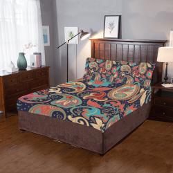 Beautiful Ethnic Indian Paisley 3-Piece Bedding Set