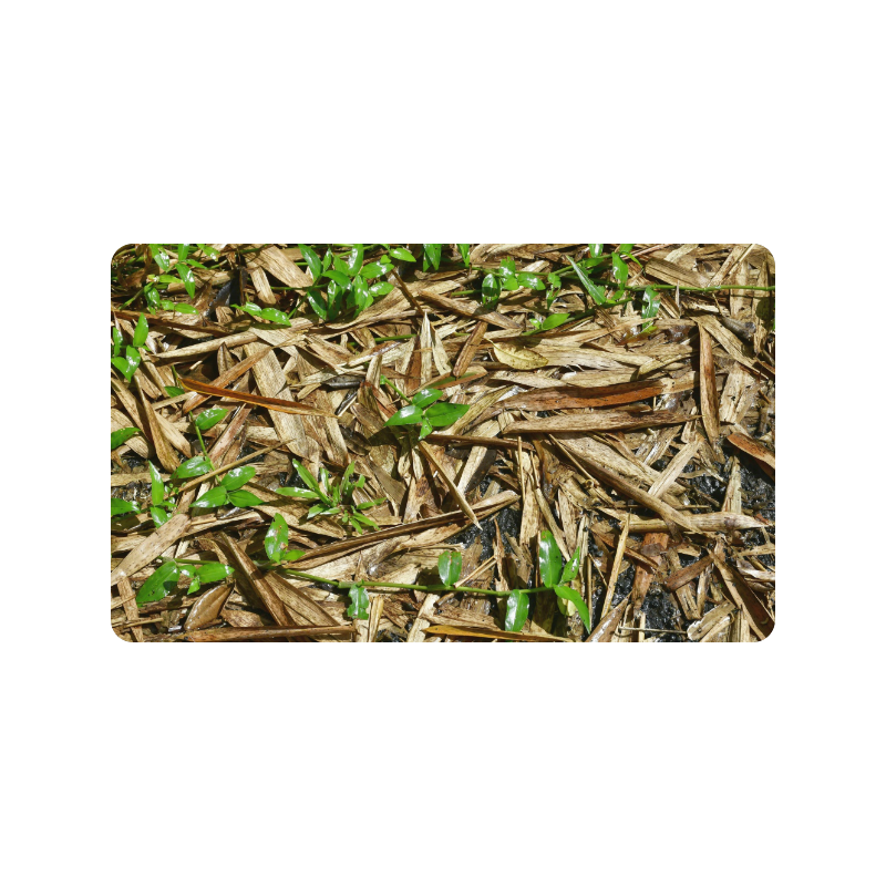 "YS_0010 - Bamboo Leaves #1 Doormat 30""x18"""