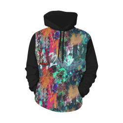 Graffiti Wall and Paint Splatter (Vest Style) All Over Print Hoodie for Men (USA Size) (Model H13)