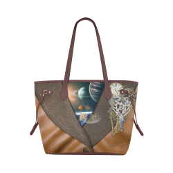 our dimension of Time Clover Canvas Tote Bag (Model 1661)