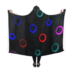 Circles deep Hooded Blanket 60''x50''