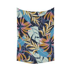 """Gorgeous Tropical Jungle Exotic Leaves Cotton Linen Wall Tapestry 60""""x 90"""""""