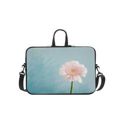 Gerbera Daisy - Pink Flower on Watercolor Blue Macbook Pro 15''