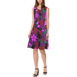 Abstract #13 2020 Sleeveless Splicing Shift Dress(Model D17)