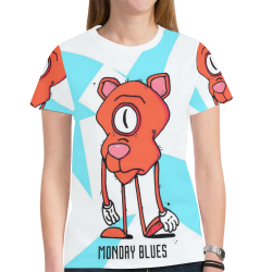 mondayblues New All Over Print T-shirt for Women (Model T45)