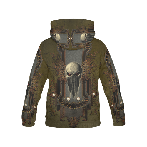 Awesome dark skull All Over Print Hoodie for Men (USA Size) (Model H13)