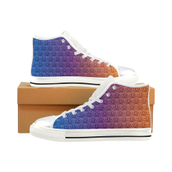 Puppy Love High Top Canvas Shoes for Kid (Model 017)