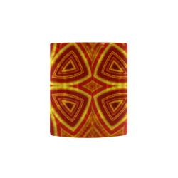 red and gold kaleidoscope Custom Morphing Mug