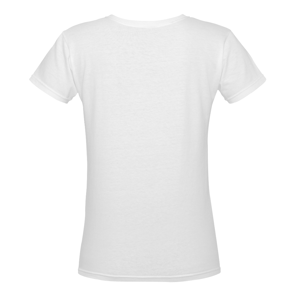 Strong Independent Women's Deep V-neck T-shirt (Model T19)