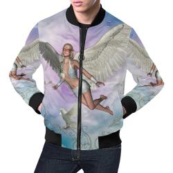 Fairy in the sky All Over Print Bomber Jacket for Men (Model H19)