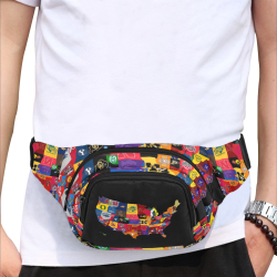 Reppin my School Fanny Pack Fanny Pack/Small (Model 1677)