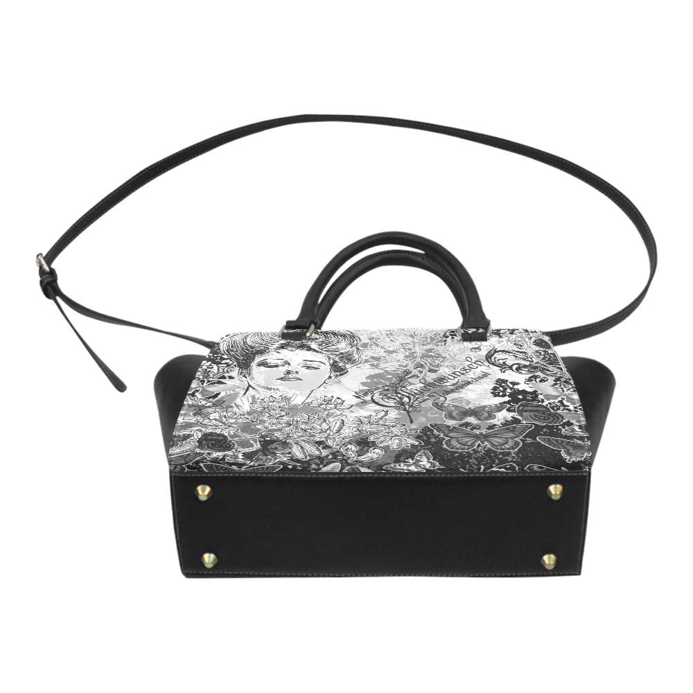Lady and butterflies Classic Shoulder Handbag (Model 1653)