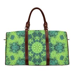 Green Theme Mandala Waterproof Travel Bag/Small (Model 1639)