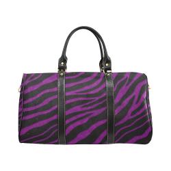 Ripped SpaceTime Stripes - Purple New Waterproof Travel Bag/Large (Model 1639)