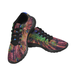Impressionist Peacock Women's Running Shoes (Model 020)