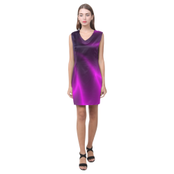 Purple Blossom Phoebe Sleeveless V-Neck Dress (Model D09)