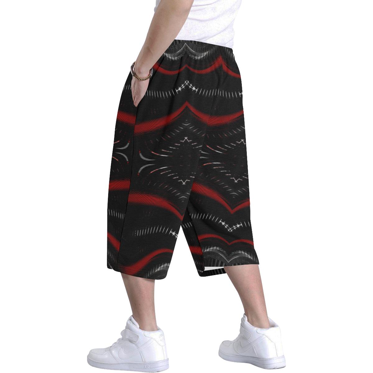 5000DUBLE 47 E 4 Men's All Over Print Baggy Shorts (Model L37)