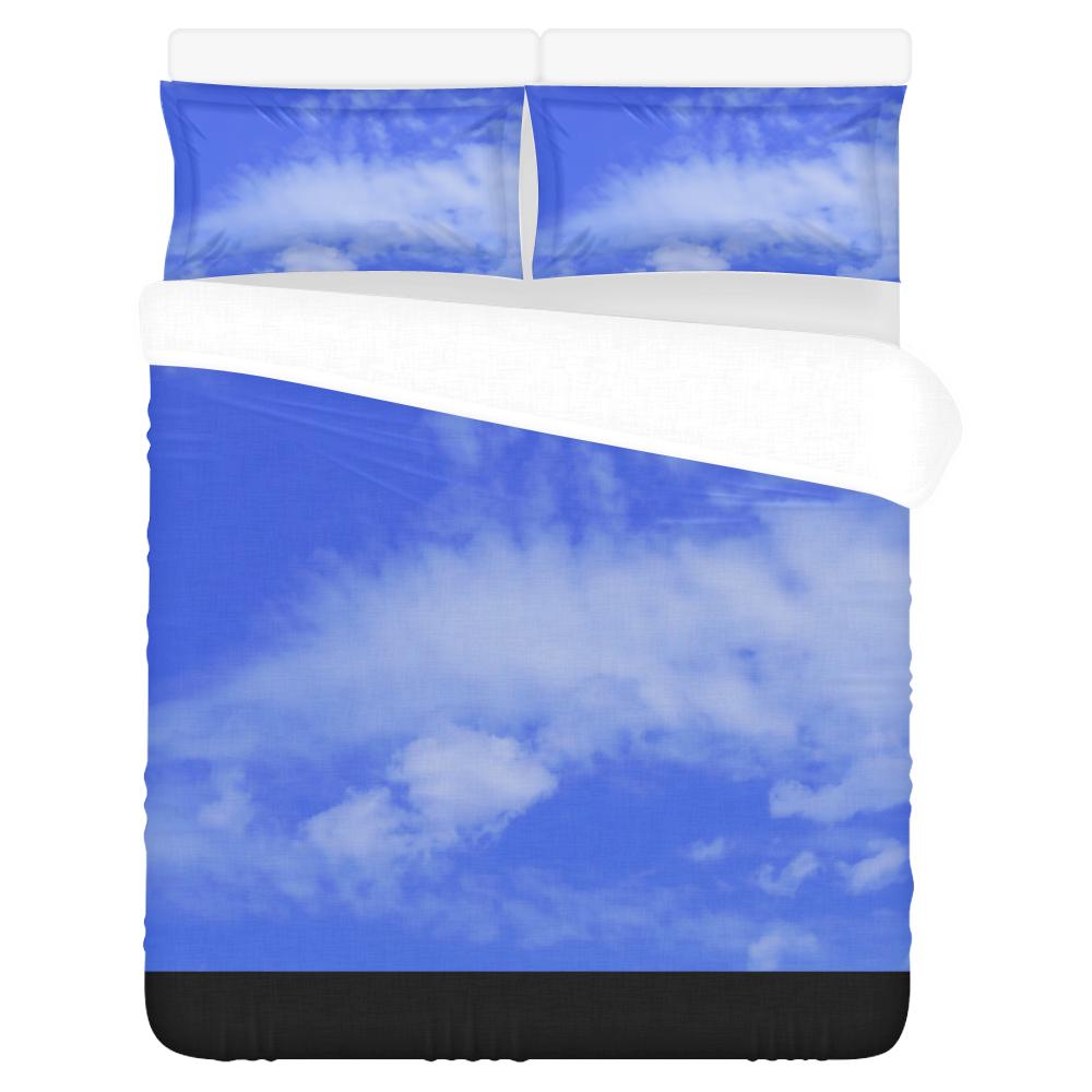 Blue Clouds 3-Piece Bedding Set