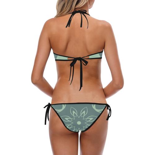 Soft Petals Custom Halter & Side Tie Bikini Swimsuit (Model S06)