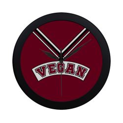 Vegan Cheerleader Circular Plastic Wall clock
