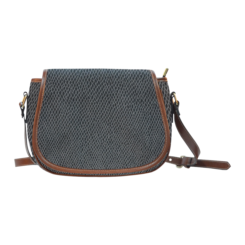 BLACK LEATHER Saddle Bag/Large (Model 1649)