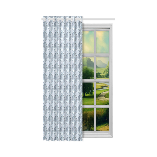 """Glass pattern on a marble background New Window Curtain 52"""" x 84""""(One Piece)"""