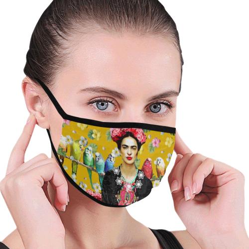 Frida Kahlo Budgies (II) Mouth Mask