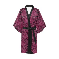 Pink Yarrow Lace Kimono Robe