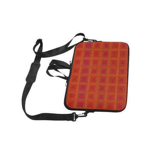 "Red orange golden multicolored multiple squares Classic Sleeve for 15.6"" MacBook Air"