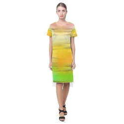 noisy gradient 2 by JamColors Short Sleeves Casual Dress(Model D14)