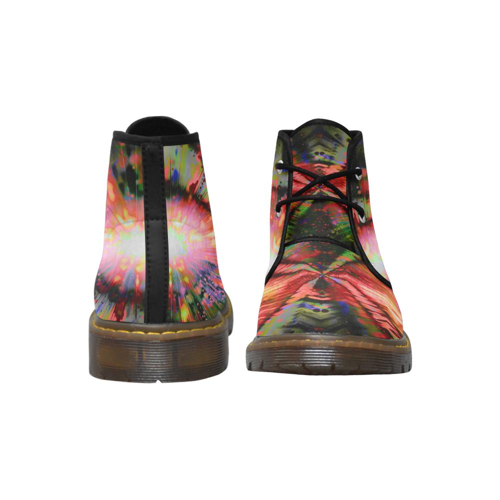 Maroon Rainbow Step Crew Women's Nubuck Chukka Boots (Model 2402)