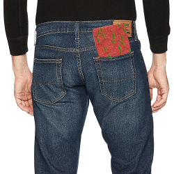 Strawberry Patch Mini Bifold Wallet (Model 1674)