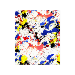 """Blue and Red Paint Splatter Poster 20""""x24"""""""