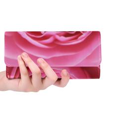 Rose Fleur Macro Women's Trifold Wallet (Model 1675)