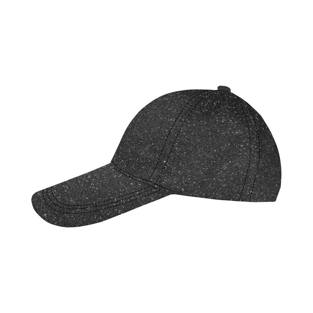 Black Sparkly Glitter All Over Print Dad Cap C (7-Pieces Customization)
