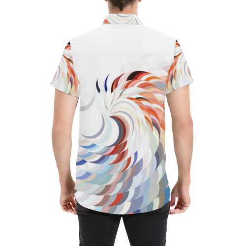 Spiralize by Artdream Men's All Over Print Short Sleeve Shirt (Model T53)
