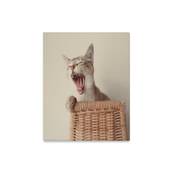 "Yawning Cat Canvas Print 16""x20"""