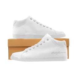 AYA show white 2 Men's Chukka Canvas Shoes (Model 003)