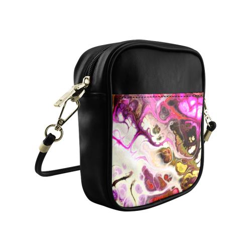 Colorful Marble Design Sling Bag (Model 1627)
