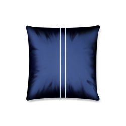 "Porcelain Blue Stripe Custom Pillow Case 16""x16""  (One Side Printing) No Zipper"