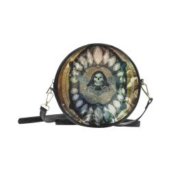 Awesome scary skull Round Sling Bag (Model 1647)