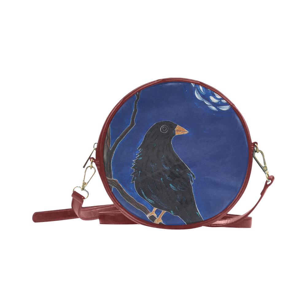 Crow Van Gogh Round Sling Bag (Model 1647)